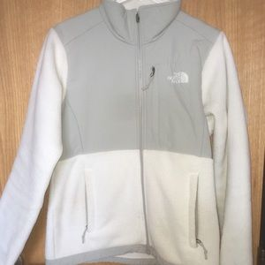 White and grey North Face jacket!